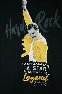 RARE Hard Rock Cafe FLORIDA Black Freddie Mercury Legend Queen Large T-Shirt