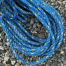 61' Dark Blue Weathered MAINE Boat Lobster Trap Buoy ROPE Nautical Decor Recycle