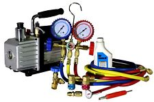 HVAC Start-Up Recharging Kit with 2.6 CFM Vacuum Pump, couplers, and gauge #4000