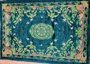 Rare Vintage Chinese Silk TapestryArt/Wall Hanging. Circa 1940's