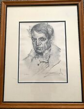 "Salvador Dali ""Portrait Of Picasso""  Lithograph S/N Framed And Matted 208/250"