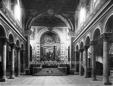 Photo. 1894. Rome, Italy. Inside Basilica di San Bartolomeo
