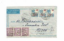 Niederlande Kolonie Malaysia LP-Brief ab Batavia 11.7.1931 nach Medan