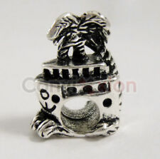 Cruise Ship Palm Tree European Charm Bead Fashion Waves Ocean Vacation Alloy