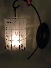 PartyLite Bamboo Lantern Wall Sconce ~ RETIRED ~ Excellent Pre-Owned Condition