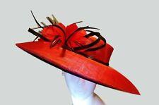 Church Hat red women's derby hat Fascinator Red Women