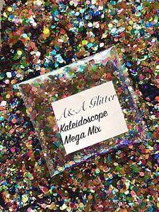 Nail Art Glitter (Kaleidoscope) Chunky Cosmetic Glitter 5g Bag