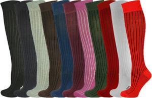 Mysocks Unisex Knee High Socks- Ribbed Seamless Toe Combed Cotton