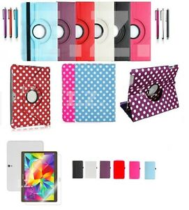 """Rotating PU Leather Case Cover Stand for Samsung Galaxy Tab A 9.7"""" SM-T550/T555"""