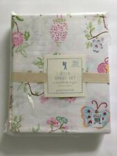 Pottery Barn Kids Leela Butterfly Cherryblossom Flower Girl Twin Sheet Set