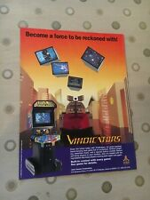 atari vindicators video arcade game flyer, 1988 nos