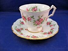 VINTAGE AYNSLEY TEA CUP AND SAUCER. - GROTTO ROSE - MADE IN ENGLAND