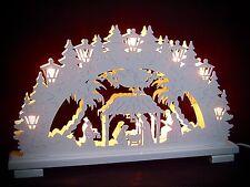 2D Arc à lumière à bougies Blanc du Christ Naissance Sainte Famille 10