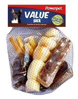 Value Pack - Natural Dog Chews-Smoked Beef Bone -Beef Jerky Bites, Trachea