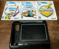 Wii - U Draw Studio Tablet + 3 Games Instant Artist + Pictionary Drawing Pad