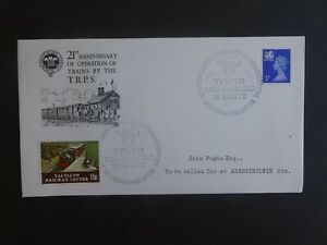 Talyllyn Railway FDC 21st Anniversary of Operation of Trains by the T.R.P.S