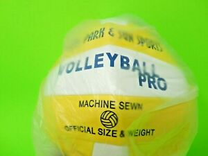 Park & Sun Volleyball Pro Yellow/White New Factory Wrapped