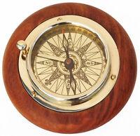 Brass Desk Compass Nautical Antique Maritime Marine Vintage Ship Navigational