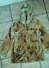 Men's Brown Shearling with Fox Fur Trim and Suede Inner Lining Size M