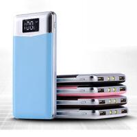 batterie externe ultra mince chargeant 2 chargeur portable bleu