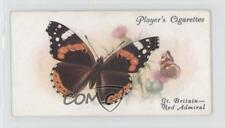 1932 Player's Butterflies Tobacco Base #17 The Red Admiral Non-Sports Card 1x2