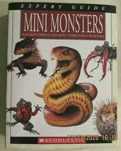 SCHOLASTIC -  MINI MONSTERS EXPERT GUIDE BOOK - PAPERBACK EDITION