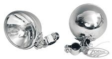 Knucklehead Style Spotlamp Spot Light Assembly by Custom Chrome (2) Harley FLH