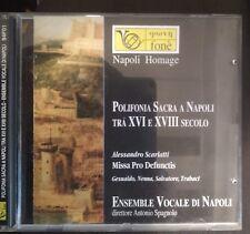 Ensemble vocale di Napoli Polifonia sacra a Napoli XVI e XVIII CD Come Nuovo
