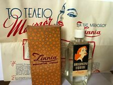 VINTAGE GREEK ZINNIA BRILLANTINE LIQUIDE NEW OLD STOCK (N.OS) GREECE with advert