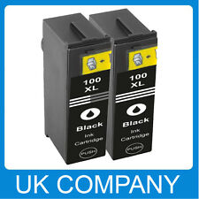 2BK Unink Brand INK CARTRIDGE FOR LEXMARK 100XL Impact S305 Interpret S405