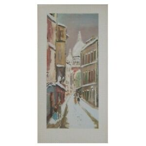 Maurice Utrillo - La Rue St-Rustique (Large Size 22 X 11 inches)