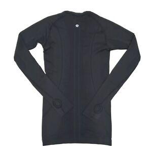Lululemon Size 4 Swiftly Tech Long Sleeve Crew Black Athletic Top