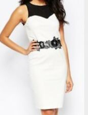 PAPER DOLLS SIZE 10 WHITE WITH BLACK LACE WAISTBAND RRP £42