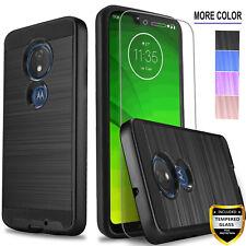 For Motorola Moto G7 Power Plus Supra Optimo Maxx Case +Tempered Glass Protector