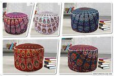 5 PCs Lot bohemian ottoman pouffe cover Cotton mandala Floor Pillow Footstool