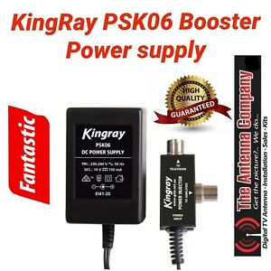 tv antenna booster power supply 14v Kingray industries 150 ma PAL metal psk06 tv