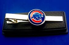 Chicago Cubs Tie Clip Baseball Team Logo Tie Bar Sports Fan (NEW) US Seller