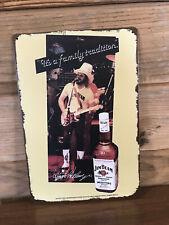 "Hank Williams Jr Jim Beam Tin Metal sign 8""X12"" Man-Cave Décor Vintage country"