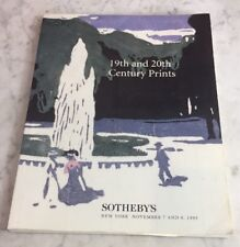 Sothebys NY 19th and 20th Century PRINTS November 7-8 1995 Auction Catalog