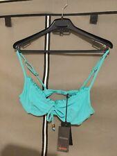 NUEVO Ted Baker parte Superior del Bikini Turquesa Talla 34 a/b + Regalo Gratis