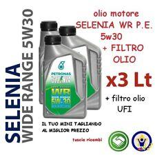 3 LT OLIO MOTORE SELENIA WR PE 5w30 ALFA FIAT LANCIA Multijet + filtro olio UFI