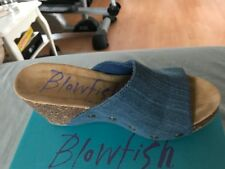 Shoes Blowfish Women's Host Fabric Peep Toe Mules size 7.5