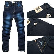 Para Hombre Robelli diseñador Azul Stonewash Denim Skinny / Slim Fit Jeans (W32)