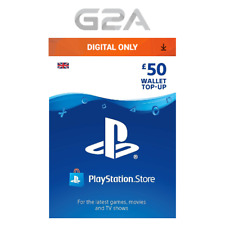 Playstation Network £50 Card - PSN 50 GBP UK Store Key / PS4 PS3 PSP - 50 Pounds