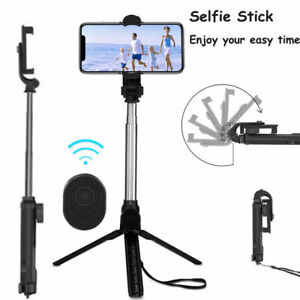 360° Extendable Selfie Stick Wireless Bluetooth Remote Tripod For iPhone Android