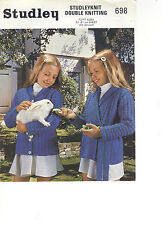 Studley DK KNITTING PATTERN wrap-over jacket/jacket with buttons 698