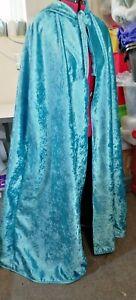 hooded cloak blue velvet supa crush more colours available medium - heavy weight