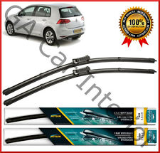 "VW Golf VII 2013 2014 2015 2016   Front Pair Flat Aero Wiper Blades 26""18"""