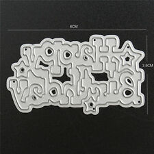 Brithday Metal Cutting Dies Scrapbooking Album Paper Card DIY Embossing Craft