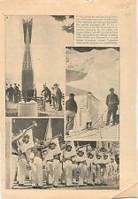 Torpille Torpedo Japan Japon/Refuge Vallot mont Blanc Alpes  1936 ILLUSTRATION